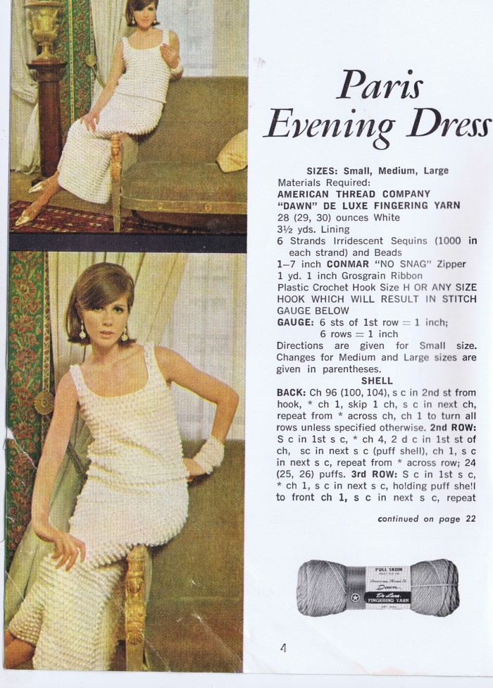 crochet pattern vintage dress american thread