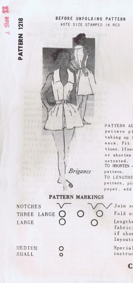 1218 Vintage Spadea Pattern