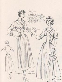 Vintage 1940s Fashion Pattern Detail