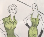 Vintage 1950s sewing pattern detail