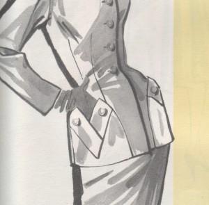 vintage sewing pattern detail pockets