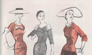 50s sewing pattern vintage