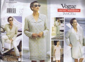 1747 Vogue Designer Pattern Skirt Jacket Slacks and Blous
