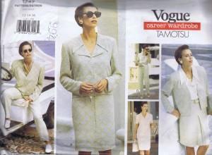 1747 Vogue Designer Pattern Skirt Jacket Slacks and Blous