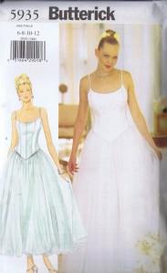5935 Butterick Boned Bodice and Skirt