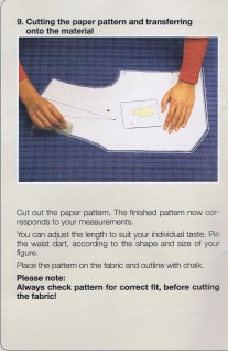 Instructions Pattern Drafting