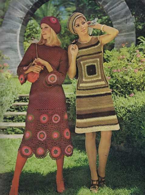 Happy Mothers Day Free Vintage 70s Knitting Crochet