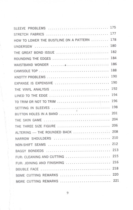 Table Contents 5