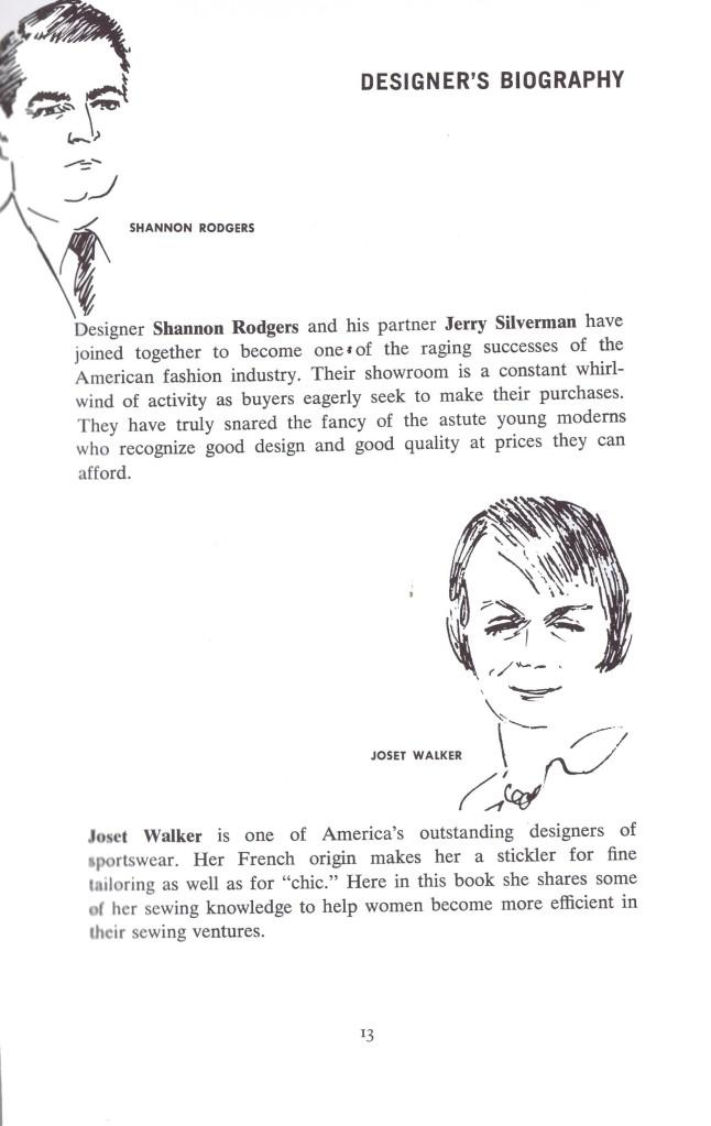 Designer Bio Shannon Roger | Joset Walker