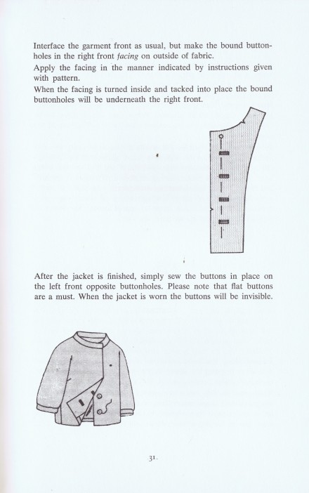 Hidden Buttoning Continued