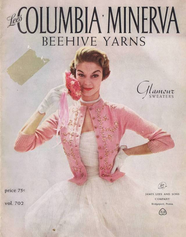 vintage, free, patterns, knitting, jeweled, mink, trimmed, crochet