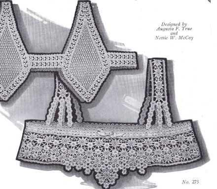 Free Vintage Crochet Yoke Patterns : Doilies Runners Chair Sets Vintage Patterns Dazespast Blog