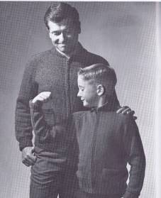 zippered jacket knitting pattern boys mans