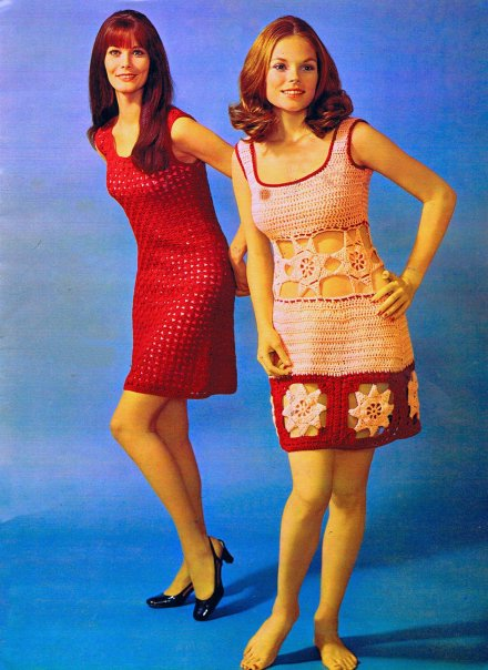 Crochet Sheath Dress Vintage 70s Crochet spinnerin Patterns