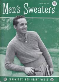 mens mans knitting patterns sweaters cardigan vintage knitting