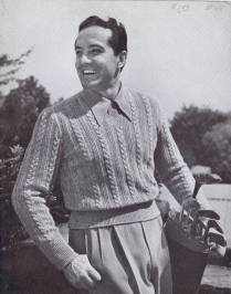 Vintage 40s Cable Knit Sweater Pattern