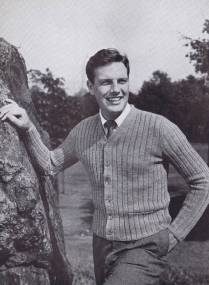 vintage pattern knitting cardigan mens
