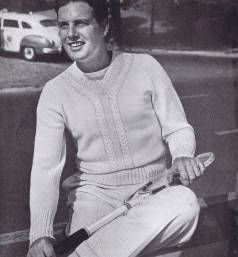 vintage 40s sweater knitting pattern