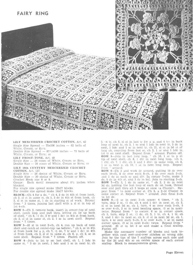 Fairy Ring Crochet Lace Motif Pattern
