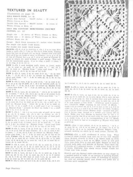 Crochet Pattern Motif Lily Mills book 73
