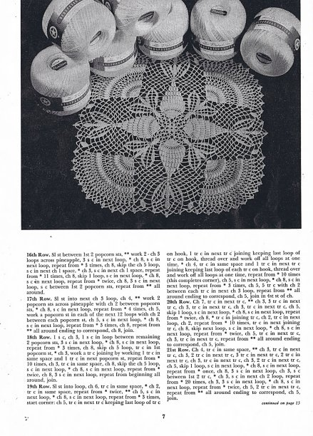free vintage doily pattern popcorn pineapples
