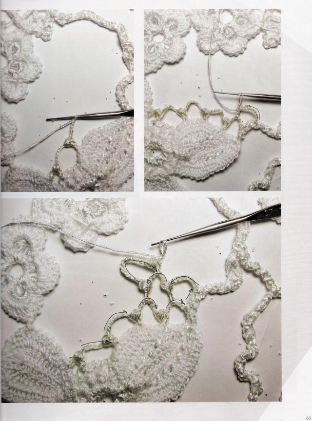 Connecting Motifs Irish Crochet