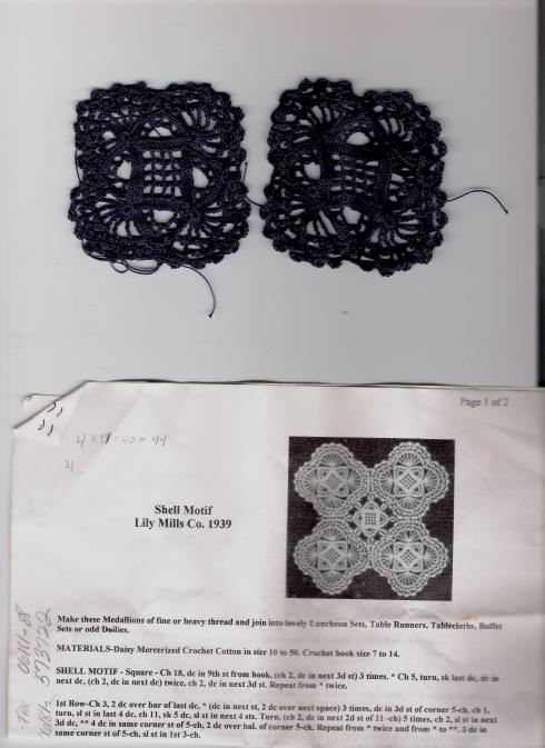 crochet shell motif medallion