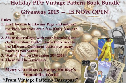 Vintage Knitting Crochet Pattern Book Bundle Giveaway 2015